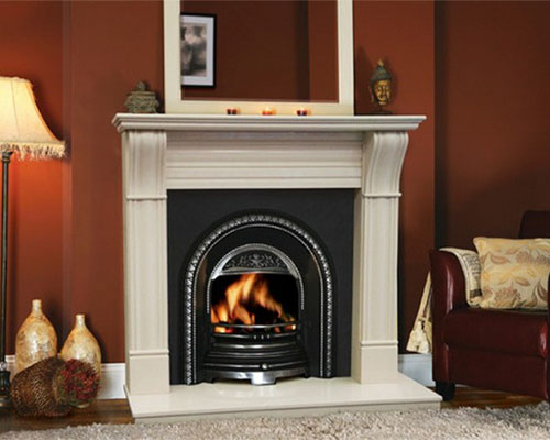 Marble irish corbel classic fireplace