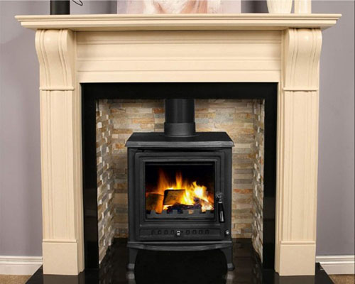 olive free standing stove